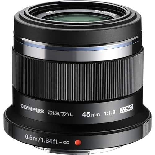 Olympus - M.Zuiko 45mm f/1.8 Portrait Lens for Most Micro Four Thirds Cameras - Black for $299
