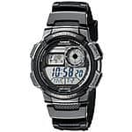 Casio Men's AE-100W-1AVDF Resin Black Sport Watch $14 Free Shipping with Prime