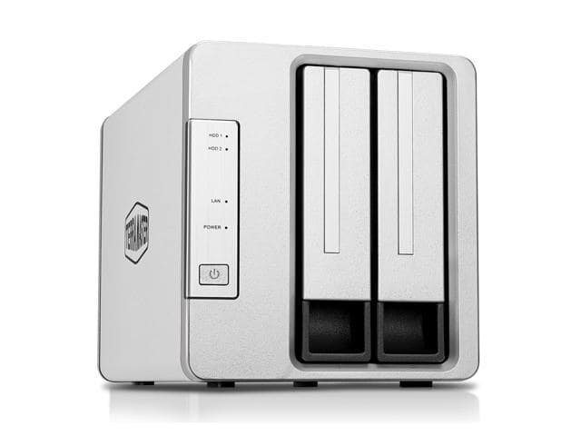 TerraMaster F2-210 2-Bay NAS Quad Core Network Attached Storage Media Server Personal Private Cloud (Diskless) $125.99