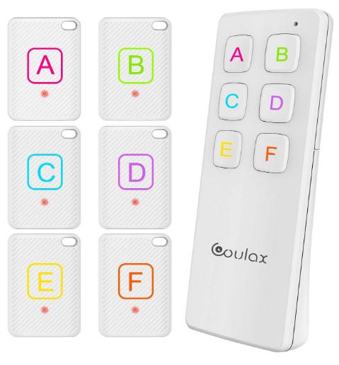 Wireless Key Tracker Anti-Lost Alarm RF Item Locator 120ft Support Remote Control $11.99