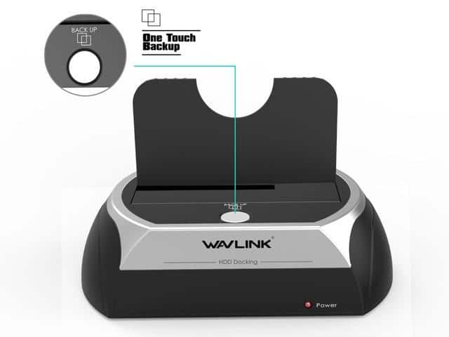 Wavlink USB Hard Drive Docking Station SATA I/II/III External Hard Docking Station For 2.5/3.5 inch HDD/SSD $11.99