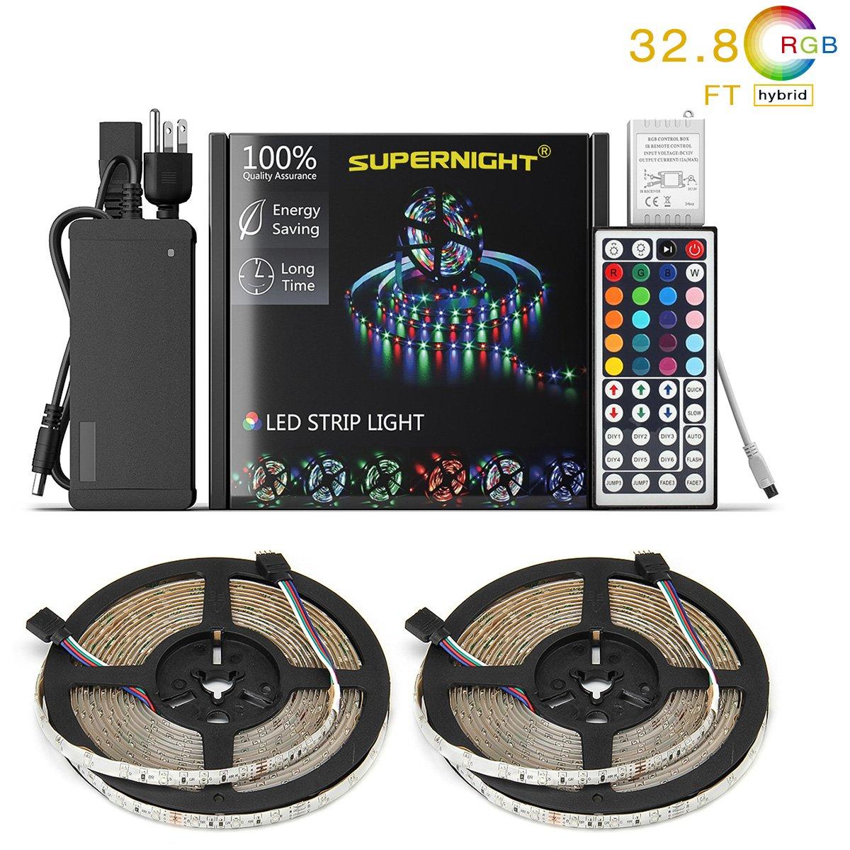 LED Strip Lights Kit Waterproof – Two 16.4ft 600 LEDs SMD 3528 RGB Light $12.99
