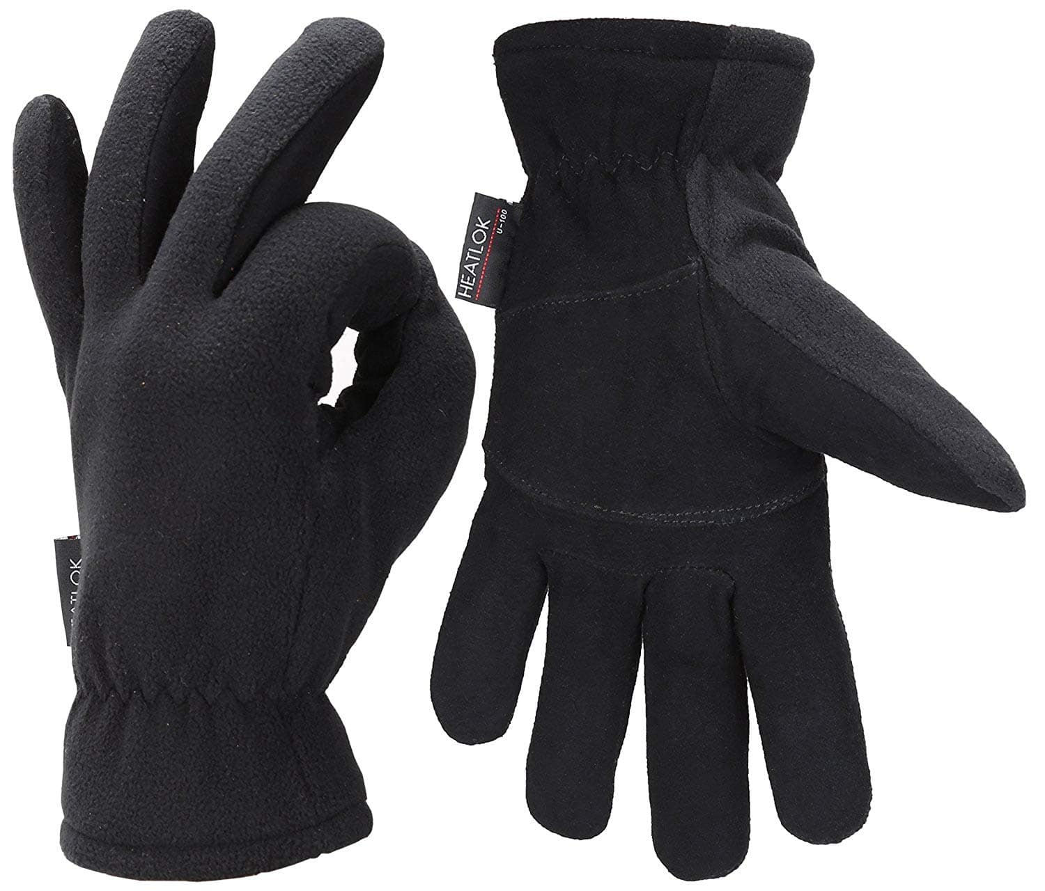 Mens Winter Gloves Cold Weather Thermal Warm Fleece Windproof Gloves $11.39