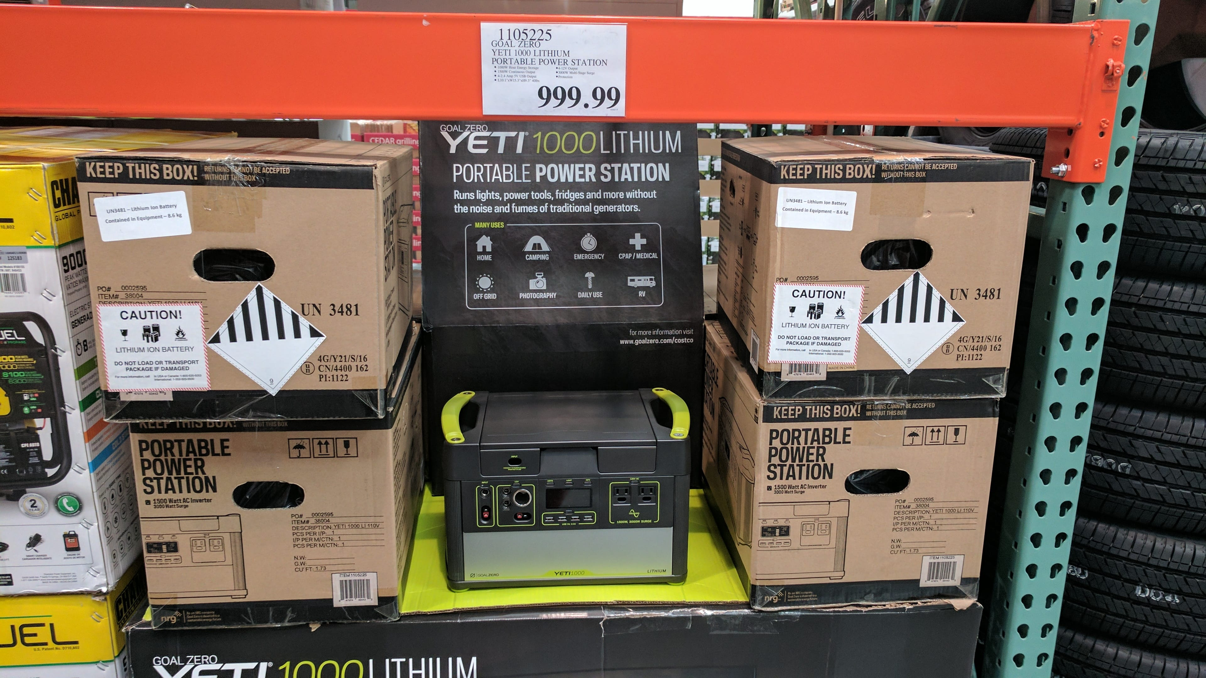Costco: Goal Zero Yeti 1000 Lithium Portable Power Station $1000
