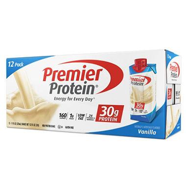 Sam's Club Members: 12-Pk of 11oz Premier Protein Shake (various) $12.49 + Free Store Pickup