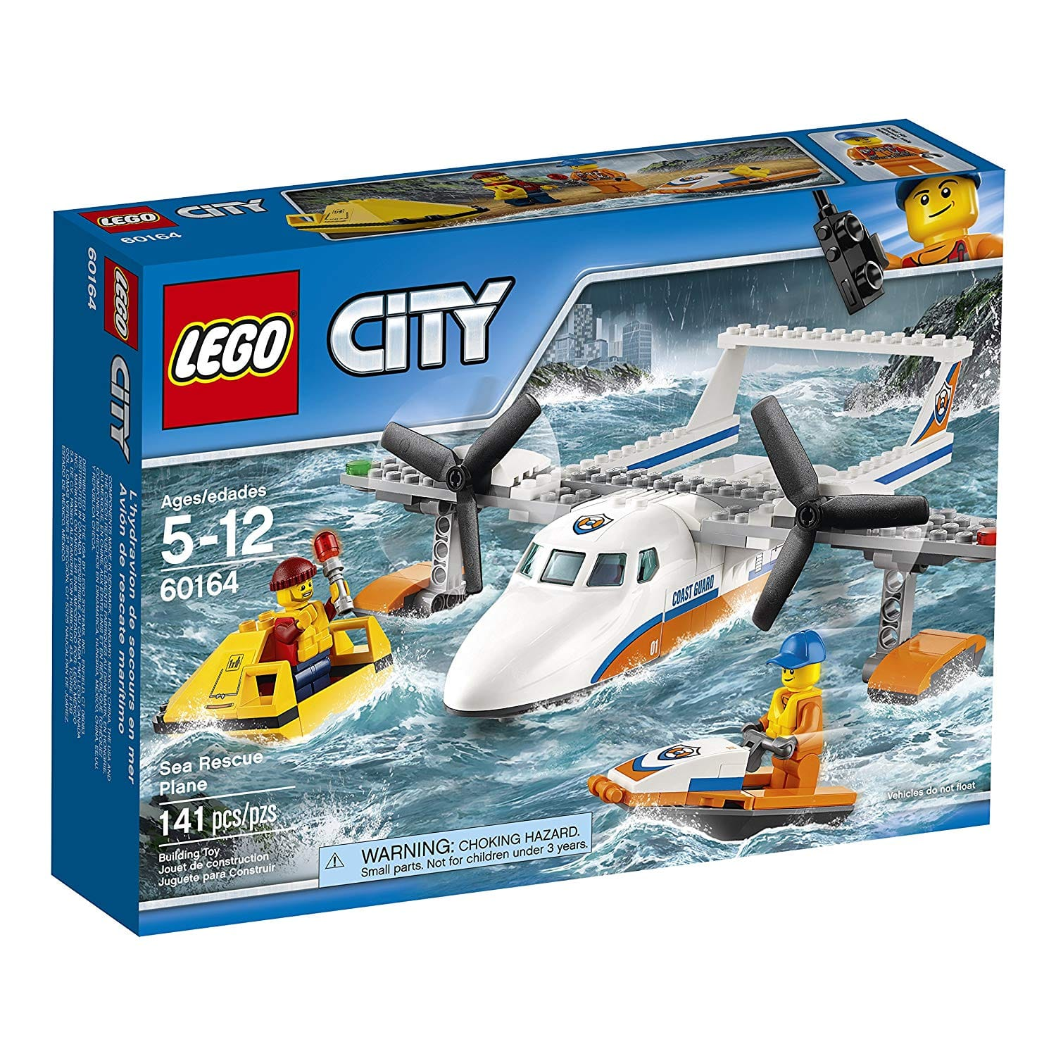 $11.99 - LEGO City Coast Guard Sea Rescue Plane 60164 Building Kit (141 Piece)