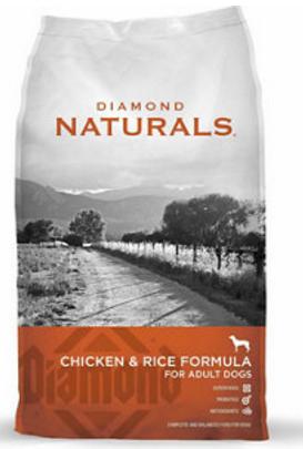 diamond naturals chicken rice formula for adult dogs dog food 40-lb bag $32