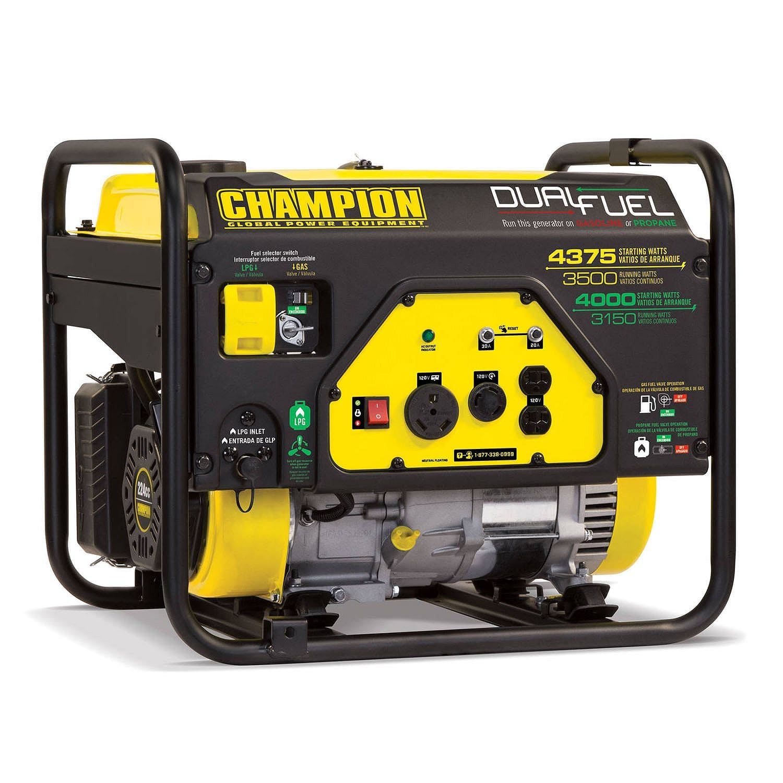 Champion 3500W / 4375W Dual Fuel Generator - $299.98