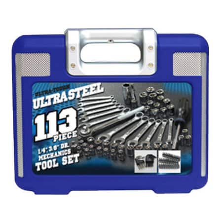 ultra steel 113 pc mechanics tool set for walmart. Black Bedroom Furniture Sets. Home Design Ideas