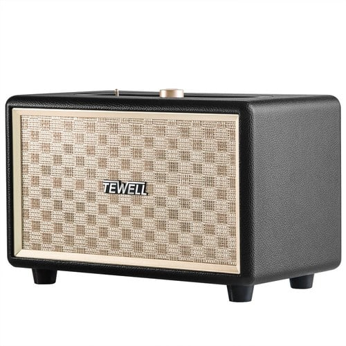 Bluetooth Speakers, TEWELL Retro Go Wireless Speaker with 24W Audio Output, Enhanced Bass and 4 Hours Playtime [Black] $27