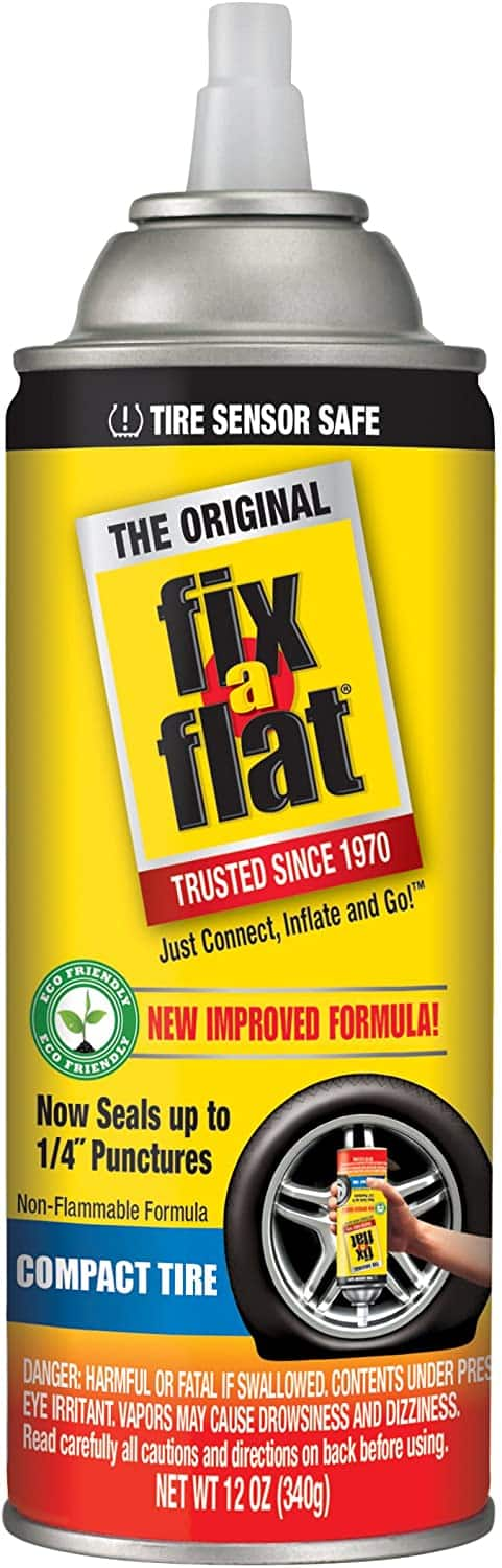 Fix-A-Flat aerosol tire inflator 12 oz $7.46 after 44% off  Amazon.