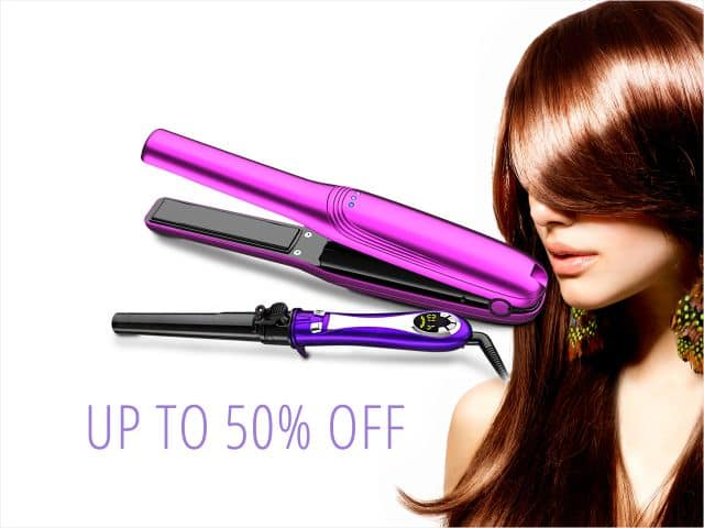 Roman Beauty Rechargable Flat Iron for $29.99, Ceramic Flat Iron for $19.99, 360 Degree Auto Turning Curler for $29.99 FS