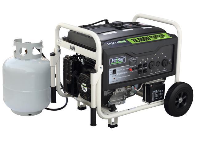 Pulsar 10,000 Peak Watt, portable, utility dual-fuel generator with 420 CC. 15.0 HP OHV engine PG10000B for $779.99 FS