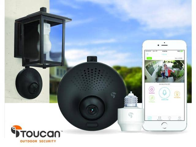 Toucan Outdoor Security - Real-time Surveillance with notification, 2-way communication for $179.99 FS