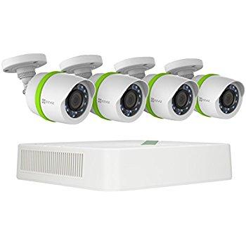 EZVIZ Surveillance System, 4 HD Security Cameras, 4 Channel 1TB DVR for $169.95 FS