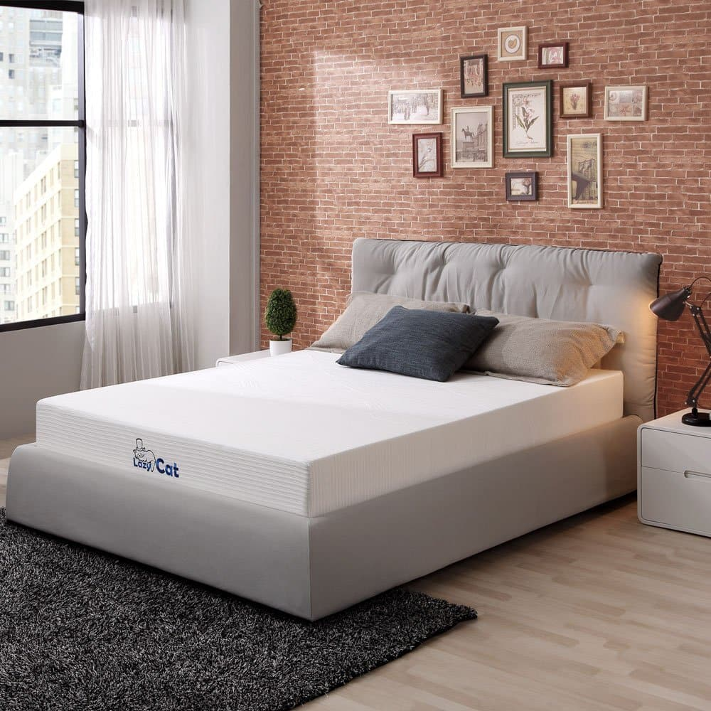 "Lazy Cat 6"" Natural Green Tea Memory Foam Mattress size Twin for $99, full for $129, and Queen for $139 FS"