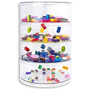 BLOKPOD Toy & Lego Multipurpose Transparent 4 Tier Stackable Bin Organizer $33.75 @ Amazon