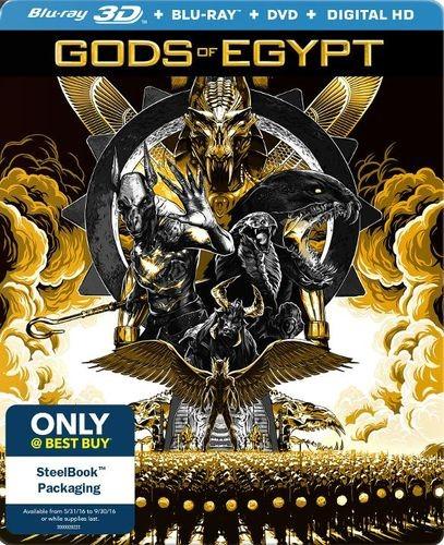 Gods of Egypt 3D Blu-ray/DVD SteelBook $12.99 @ BestBuy