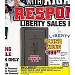 Liberty Revere 25-Gun Safe - $899 after MIR - Made In USA B&M