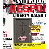 Gander Mountain Deal: Liberty Revere 25-Gun Safe - $899 after MIR - Made In USA B&M