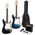 Full Size Electric Guitar + 10 Watt Amp + Gig Bag Case + Guitar Strap Beginners $79.95 @eBay