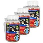 3 Pack: Airborne Kids Gummies Vitamin 667mg Immune Support Supplement, Assorted Fruit Flavors, 126 Count $26.99+FS