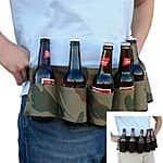 Party Beer & Soda Can Belt 6 Pack Holster $6.99+ free shipping @ebay