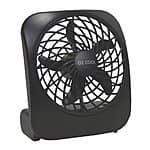 Portable Battery-Operated Fan in BLACK, 5 In $6.88@ amazon
