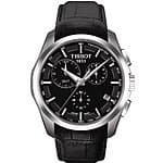 Tissot Men's T-Trend Couturier Analog Display Swiss Quartz Black Watch $354@amazon