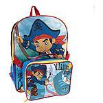 Disney Jake and the Neverland Pirates 16″ Backpack and Lunch Bag $7 @walmart