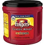 Folgers Classic Roast Ground Coffee, Regular, 30.5 oz. Can $6.99+ free pickup@staples