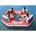 $84.99 INTEX Pacific Paradise Relaxation Station Water Lounge 4-Person River Tube Raft @Ebay