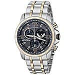 Citizen Men's Eco-Drive Chrono-Time A-T Two-Tone Stainless Steel Bracelet Watch 44mm BY0106-55H at macys for 99.99+tax (org 725.00)