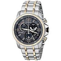 Amazon Deal: Citizen Men's Eco-Drive Chrono-Time A-T Two-Tone Stainless Steel Bracelet Watch 44mm BY0106-55H at macys for 99.99+tax (org 725.00)