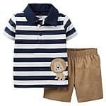 Just One You™Made by Carter's® Newborn Boys' 2 Piece Lion Short Set - Khaki only $5.48