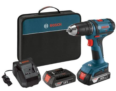 Bosch DDB181-02 18-Volt Lithium-Ion 1/2-Inch Compact Tough Drill Driver Kit with 2 Batteries, Charger and Contractor Bag $89.99 Amazon FSS