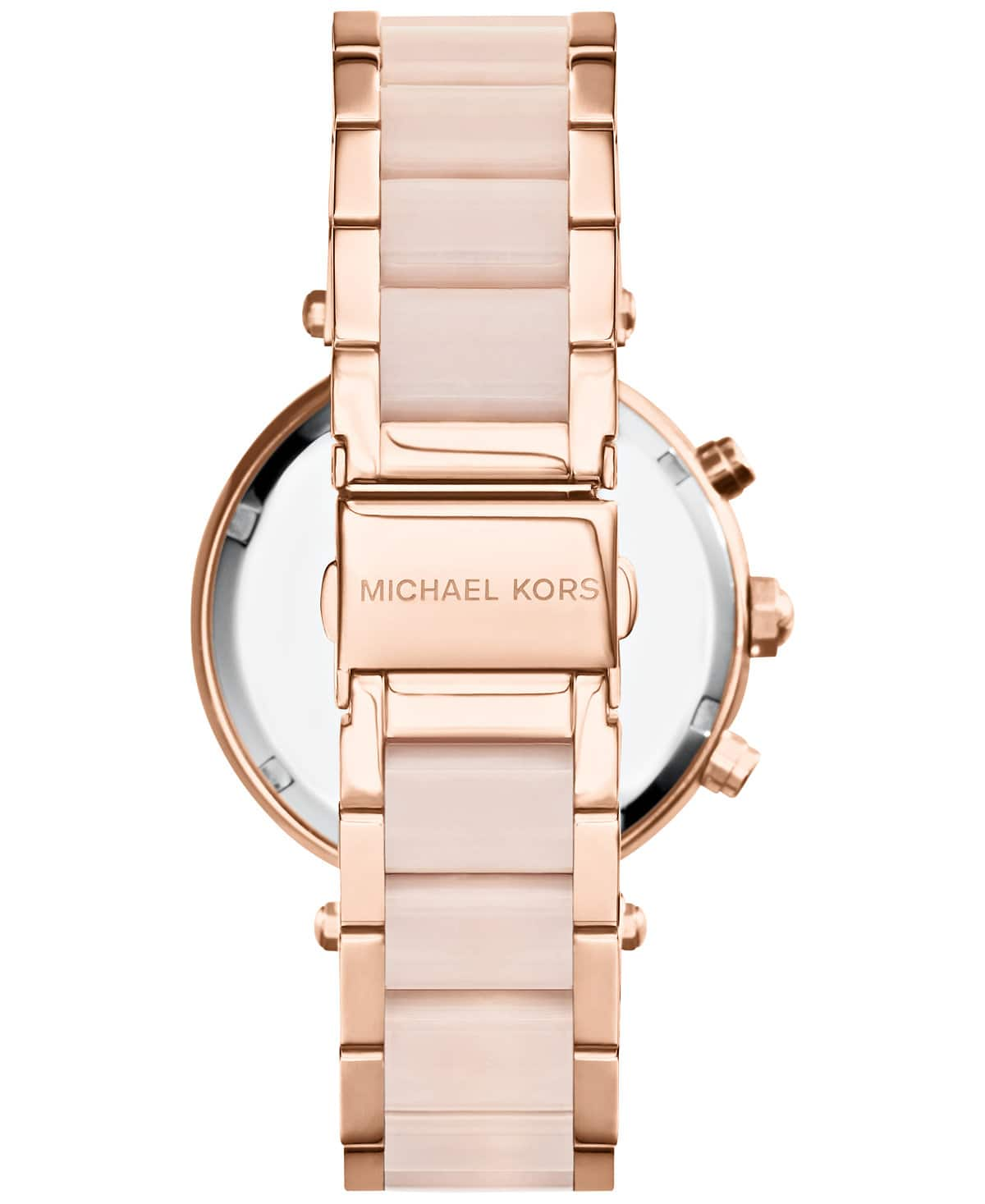 Michael Kors Mid-Size Rose Goldtone/Stainless Steel Parker Three-Hand Glitz Watch $120 @ Amazon