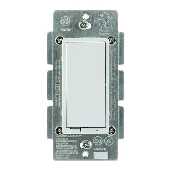 GE Z-Wave Plus Wireless Smart Lighting Control Smart Dimmer Switch, In-Wall, Includes White  Almond Paddles, Works with Amazon Alexa, 14294  $34.99 @ Lowes FS and Amazon