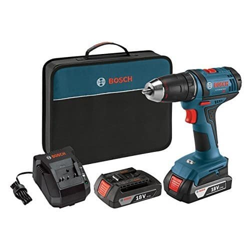 Bosch DDB181-02 18-Volt Lithium-Ion 1/2-Inch Compact Tough Drill/Driver Kit with 2 Batteries, Charger and Contractor Bag $79 Amazon FSS