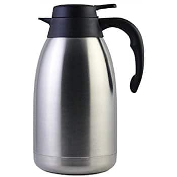 Thermal Coffee Carafe Stainless Steel 2 Liter $13.46 after 25% promo discount with free prime shipping