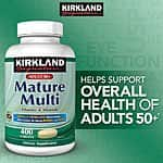 Kirkland Signature™ Adults 50+ Mature Multi, 400 Tablets $9.99