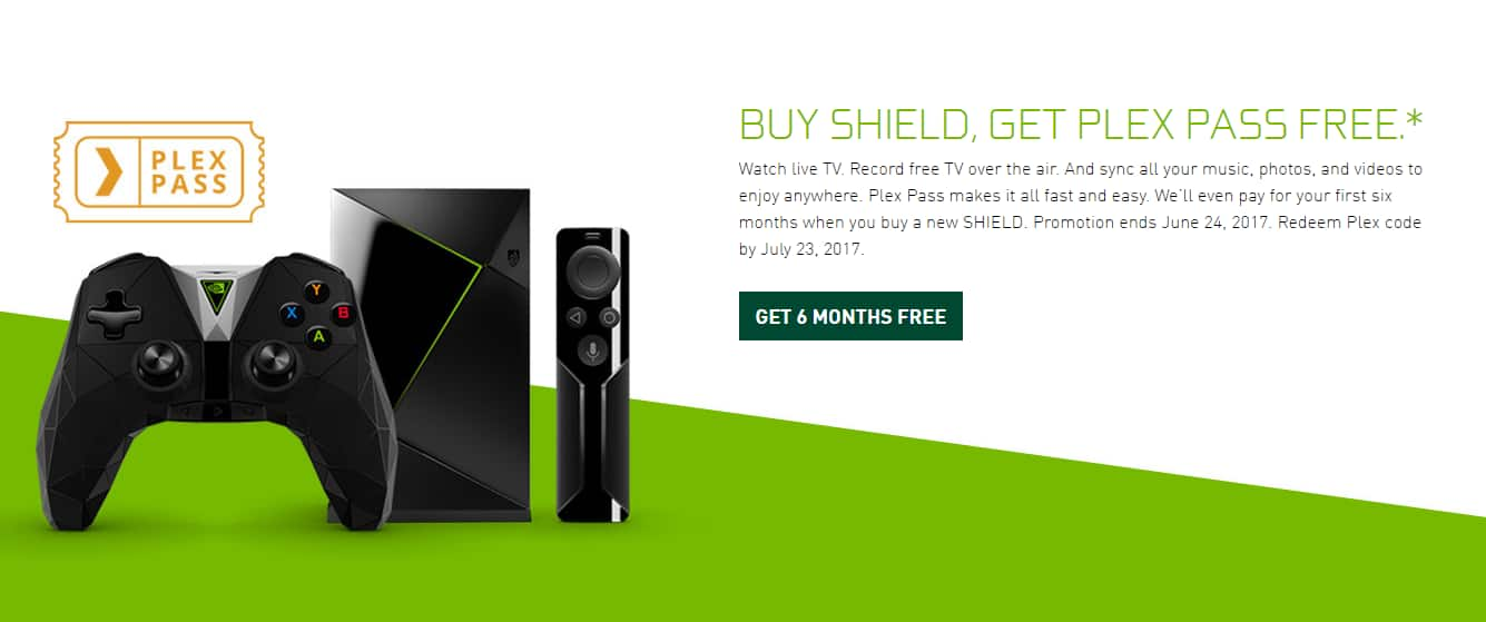 PlexPass FREE for 6 Months with Nvidia Shield TV