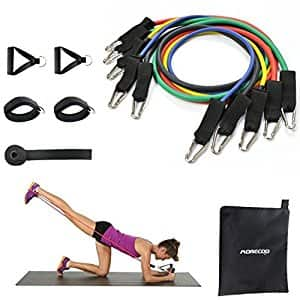 MORECOO Resistance Band 11pc Set for $13.84