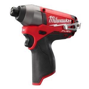 "New Milwaukee Brushless M12 FUEL12V 2453-20 1/4"" $52.99"