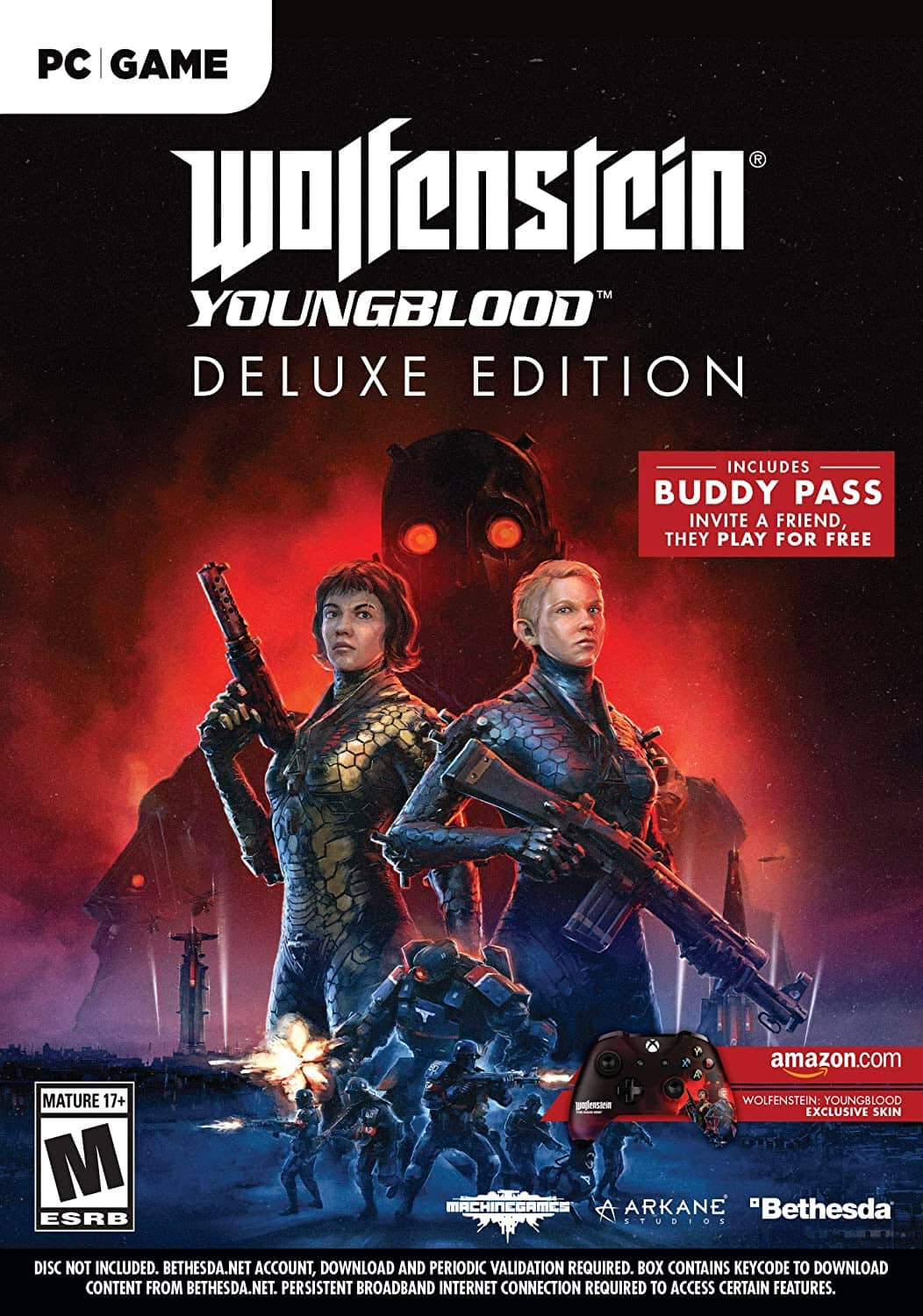 Wolfenstein Youngblood Deluxe Edition - (PC) - Amazon - $11.71
