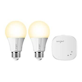 Sengled Element Classic A19 Smart Home LED Starter Kit, Compatible with Amazon Alexa and Google Assistant (2 Pack) $27.99 on Amazon