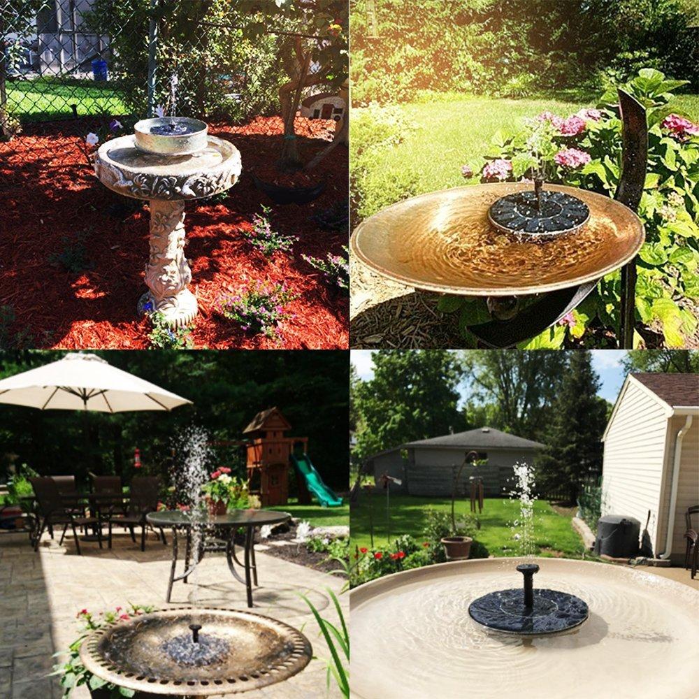Solar Bird Bath Fountain Pump $9.98