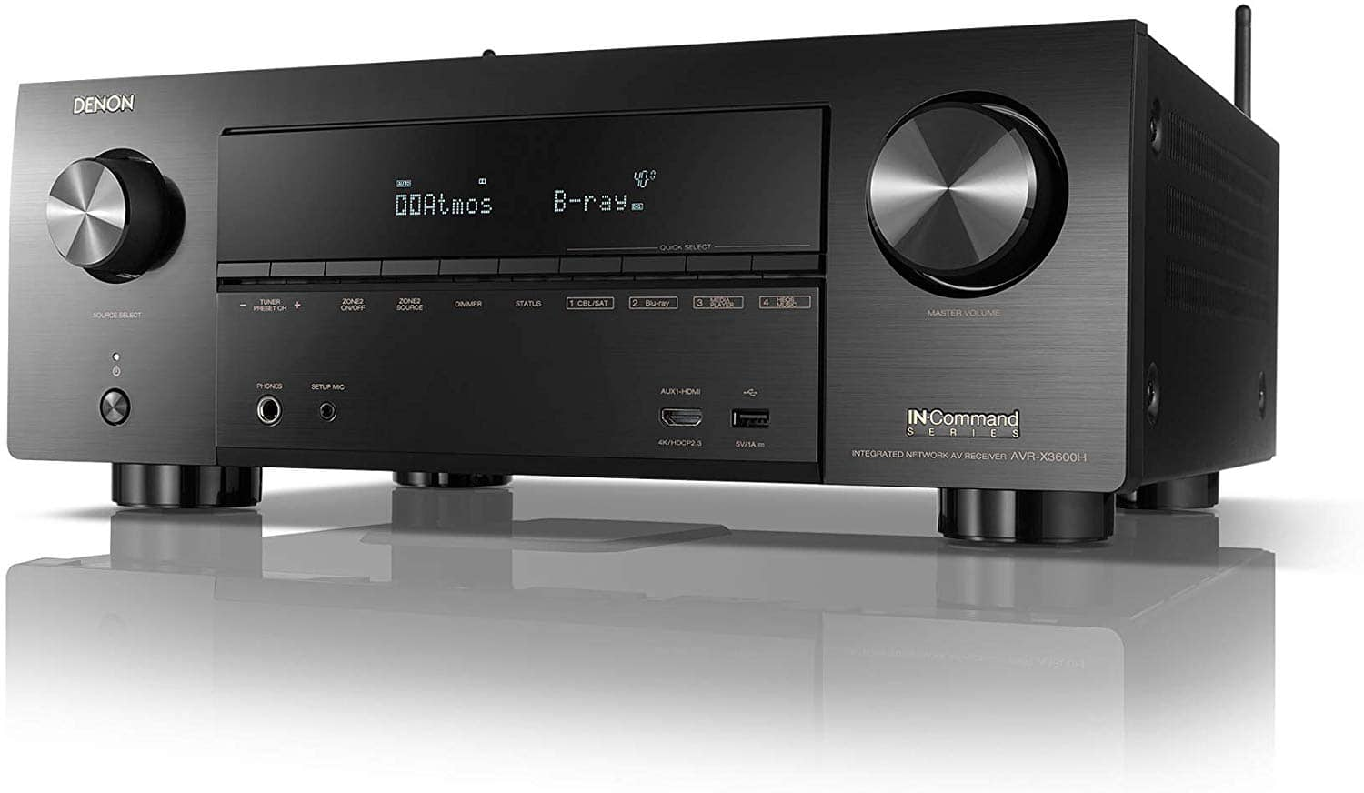 Denon AVR-X3600H 9.2-Channel 4K A/V Receiver $899
