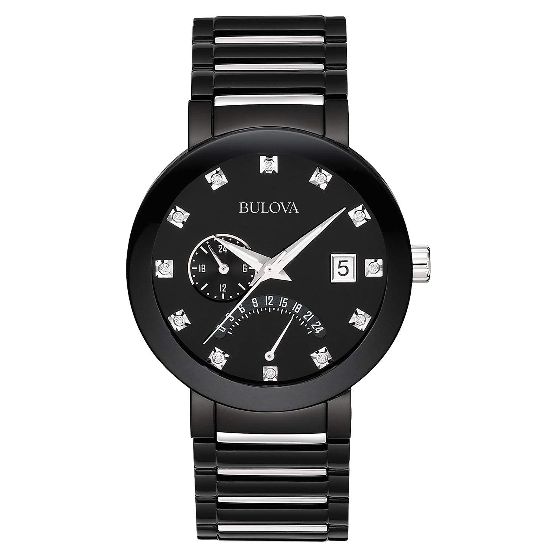 Bulova Men's 40mm Modern Diamond Accent IP Stainless Steel Watch $99 Reg $190