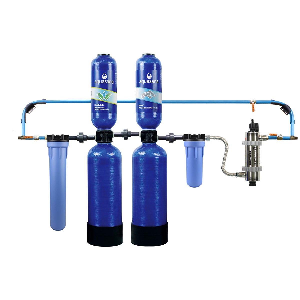 Aquasana 10-Year, 1,000,000 Gallon Whole House Water Filter with Salt-Free Softener, UV Filtration, and Professional Installation Kit (B00XAJK52Q) $1518.58